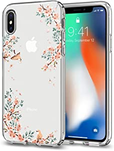 Spigen Liquid Crystal Designed for Apple iPhone Xs Case (2018) / Designed for Apple iPhone X Case (2017) - Blossom Nature