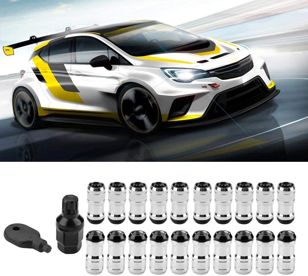 red Qii lu M12 X P1.5 Car Racing Lug Wheel Nuts and Screws for Most of Wheels with 60 Degrees