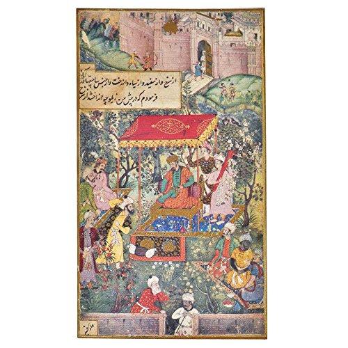 Persian Art Miniature (Indian Shelf Handmade Paper Persian Miniature Prints of Imperial Court Prints/Lithographs/Wall Art PT-157)