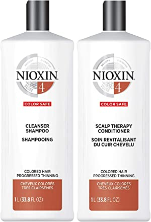 Nioxin Cleanser Shampoo System 1-6, Hair Care for Fine/Normal and Color/Chemically-Treated Hair with Thinning, 33.8 fl oz.