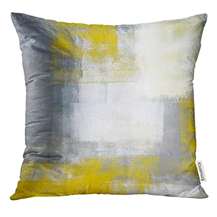 Amazon UPOOS Throw Pillow Cover Gray Acrylic Grey And Yellow New Gray And Yellow Decorative Pillows