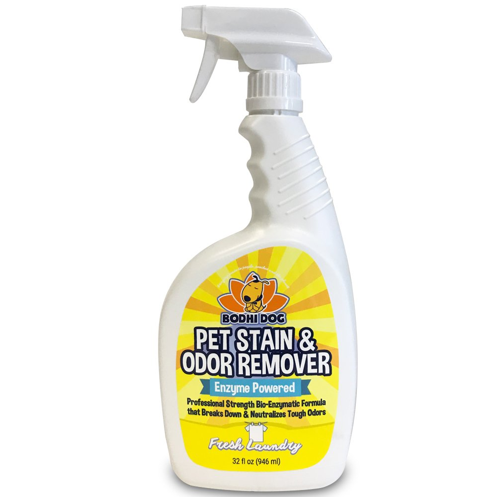 New Natural Enzymatic Carpet & Stain Remover Professional Strength Enzyme Pet Odor Spray Eliminator | Eliminates & Cleans Dog & Cat Smells | Deodorizer Sanitizer Cleaner Urine & Pee 32oz (Fresh Linen)