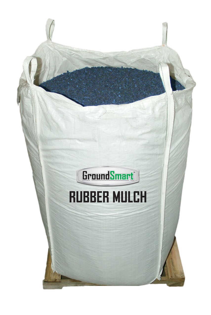 GROUNDSMART LTGBUMN1TS Rubber Mulch, Large, Blue