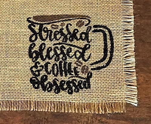 Single Placemat For Coffee Bar Coffee Lovers Gift Burlap Coffee Placemats Place Mat For Coffee Machine Coffee Station Decor Mat For Coffee Maker