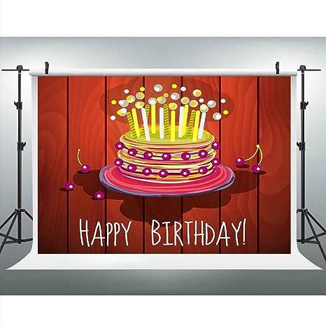 Amazon Com Red Wood Photo Backgrounds Birthday Cake Candle
