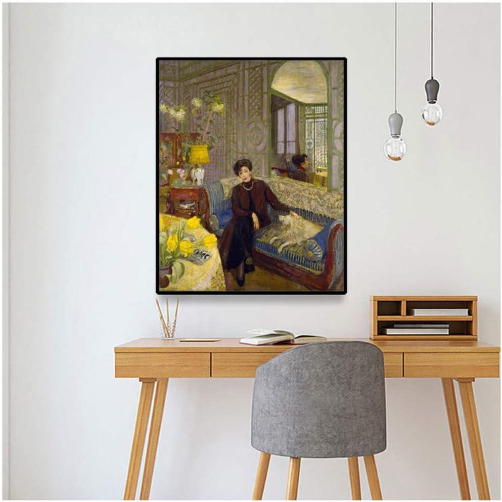 Edouard Vuillard《Marcelle Aron (Madame Tristan Bernard)》Cuadro en lienzo Decoración de pared Decoración del hogar -60x80cm Sin marco