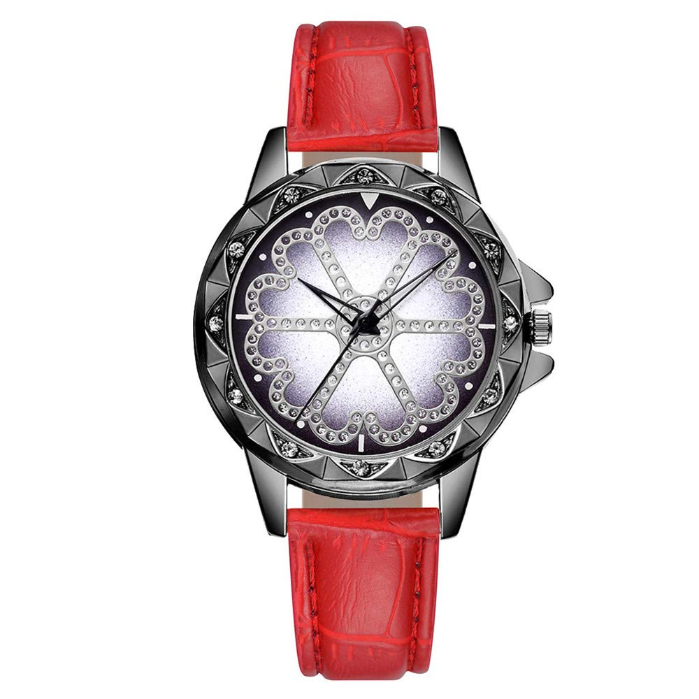 Fashion Diamond Watches for Women on Sale DYTA Easy Reader Watches with Leather Band Retro Simple Watches White Face Ladies Watches Under 10 on Clearance Analog Quartz Watchs Gifts for Women
