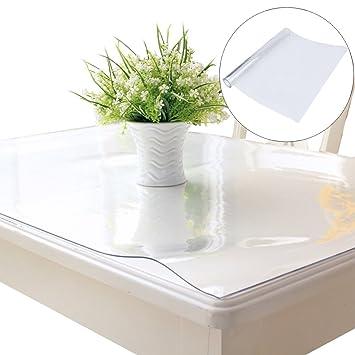 Delicieux Blackpoolal En PVC Transparent Housse De Protection De Table Pour étanche,  Desk Table Coussinets Doux