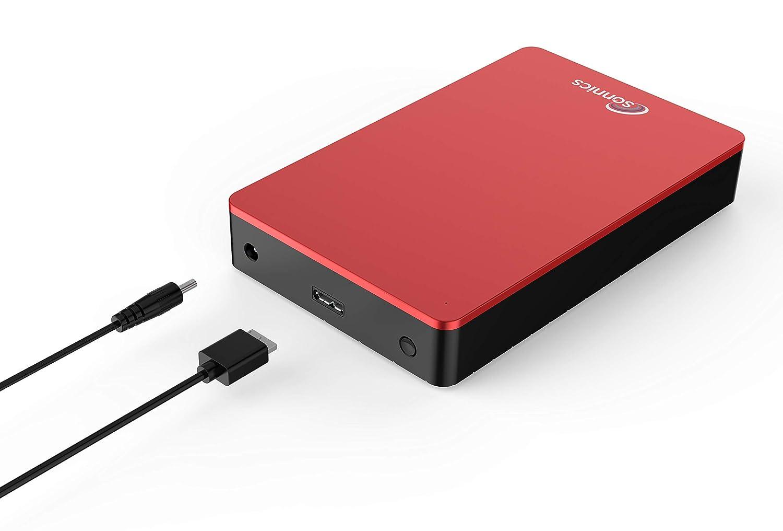 Sonnics Disco Duro Externo para Ordenador de sobremesa Gris 2 TB USB 3.0, Compatible con Windows PC, Mac, Smart TV, Xbox One y PS4