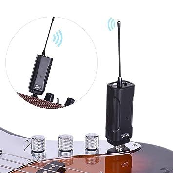 Sistema de receptor de transmisor inalámbrico de audio Sguan-wu para guitarra eléctrica bajo violín