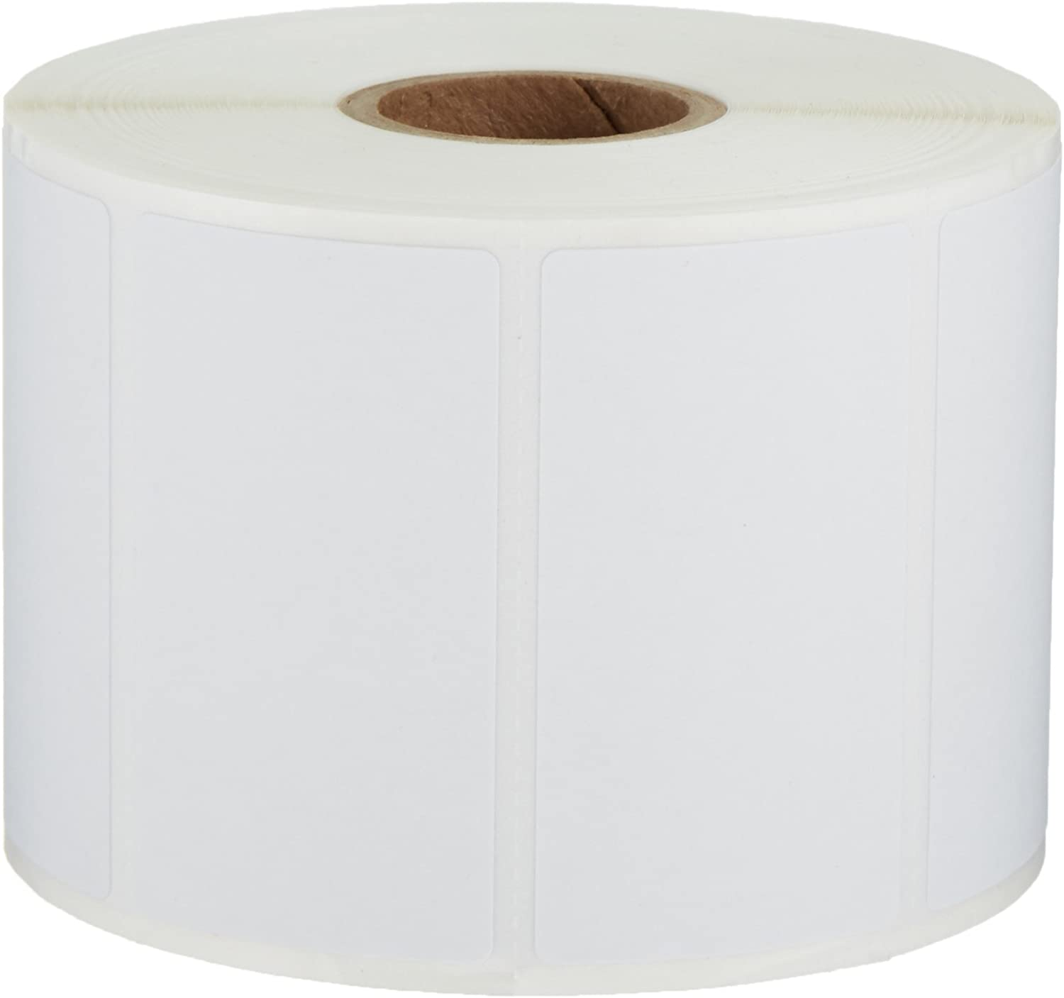 AmazonBasics Permanent Adhesive Address Labels for Direct Thermal Printers, White, 2-1/4'' x 1-1/4'', 1,000 Labels per Roll, 12 Rolls