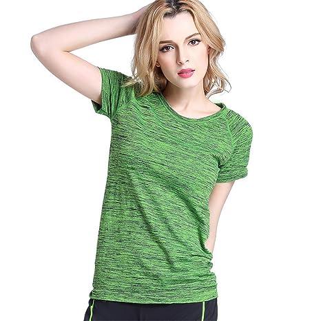 Camiseta Deportiva para Mujer Verano de Mujer de Manga Corta ...