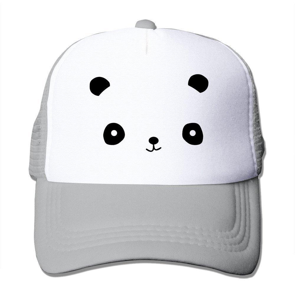 MYDT1 Unisex Happy Panda Face Classic Mesh Back Trucker Cap Hat