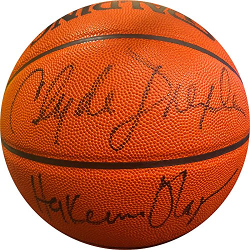 new product e6beb 0a2df Hakeem Olajuwon Clyde Drexler Charles Barkley Signed NBA Game Basketball -  JSA Certified - Autographed Basketballs