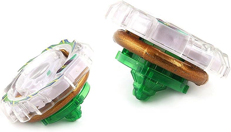 2 Pz Spinning Trottole Combattimento Lancia Fusione 4D Metallo Plastica Lega