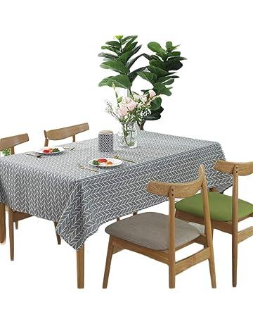 Meiwash manteles manteles de lino de limpiar mantel estilo sencillo sarga multiusos para interiores y al