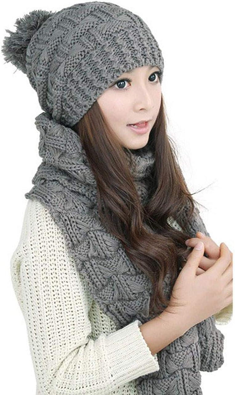 Winter Hat Scarf Cute Knit...