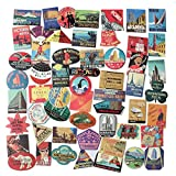 #8: STICON Classic Vintage Style Vinyl Waterproof Stickers for Luggage, Car, Laptop, Skateboard, Bicycle Decal Graffiti Patches (56 Pieces)