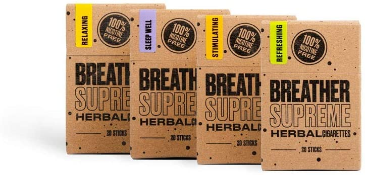 Herbal Cigarettes - Tobacco and Nicotine Free 4 Packs 80 Smokes