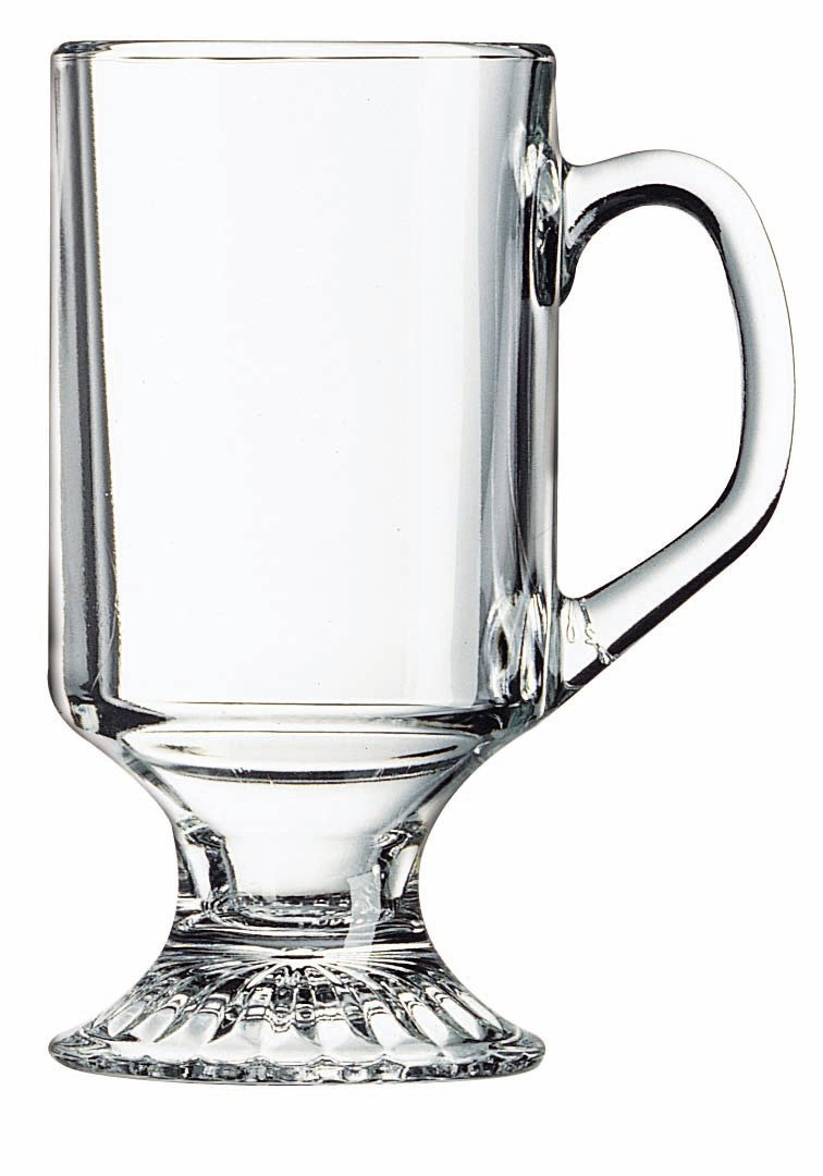 Arc International Luminarc Irish Footed Mug, 10-Ounce, Set of 4 N2538
