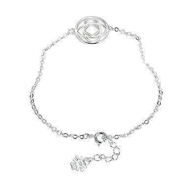 40+5 CM Collier Femme Argent 925 Modélisation des Radiations Cristal Fantaisie Or/Or Rose/Argent Longueur de Chaîne AnaZoz