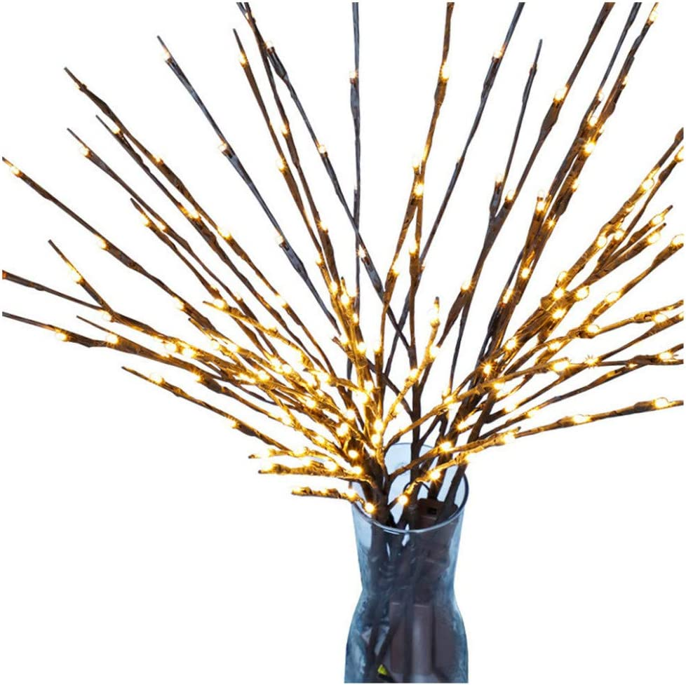 Amazon Com Fan Ling Warm Led Willow Branch Lamp Floral Lights 20