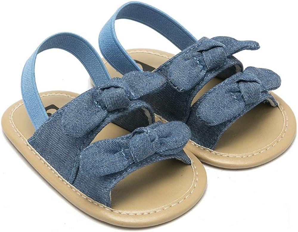 Summer Newborn Baby Girls Princess Bowknot Sandals Prewalker Soft Sole Shoes