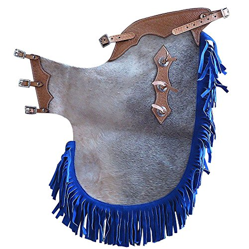 Pro Bull Rodeo - HILASON WESTERN PRO RODEO BRONC BULL RIDING SHOW HAIR ON LEATHER CHINKS CHAPS NA