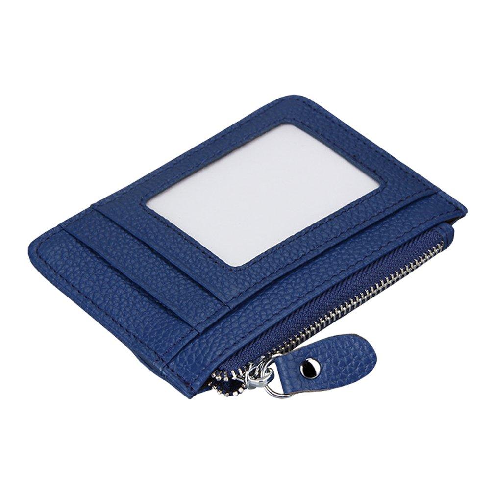 TOPSTORE01 Porte Carte Cuir Petit Porte Monnaie Portefeuille Zipp/é RFID Blocage Bleu