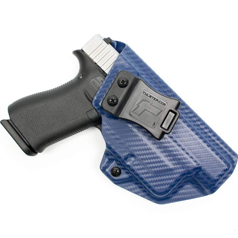 Tulster Glock 48 TLR-6ホルスター付き IWBプロファイルホルスター 右手用 B07RT1R33H Police Blue Carbon Fiber
