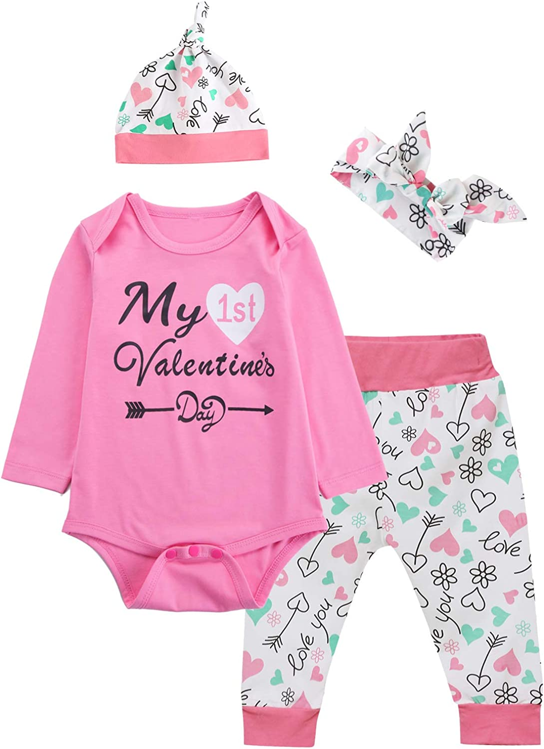 LOVE Romper Bodysuit for Valentine/'s Day Toddler Baby Girls Boys Party Costume