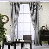 dark grey curtains pencil pleat Full Blackout Insulation Curtain,Draped Curtains,Pencil Easy To Wash Panels Fade-resistant For Floor To Ceiling Bay Window Apartment-gray 200x270cm(79x106inch)