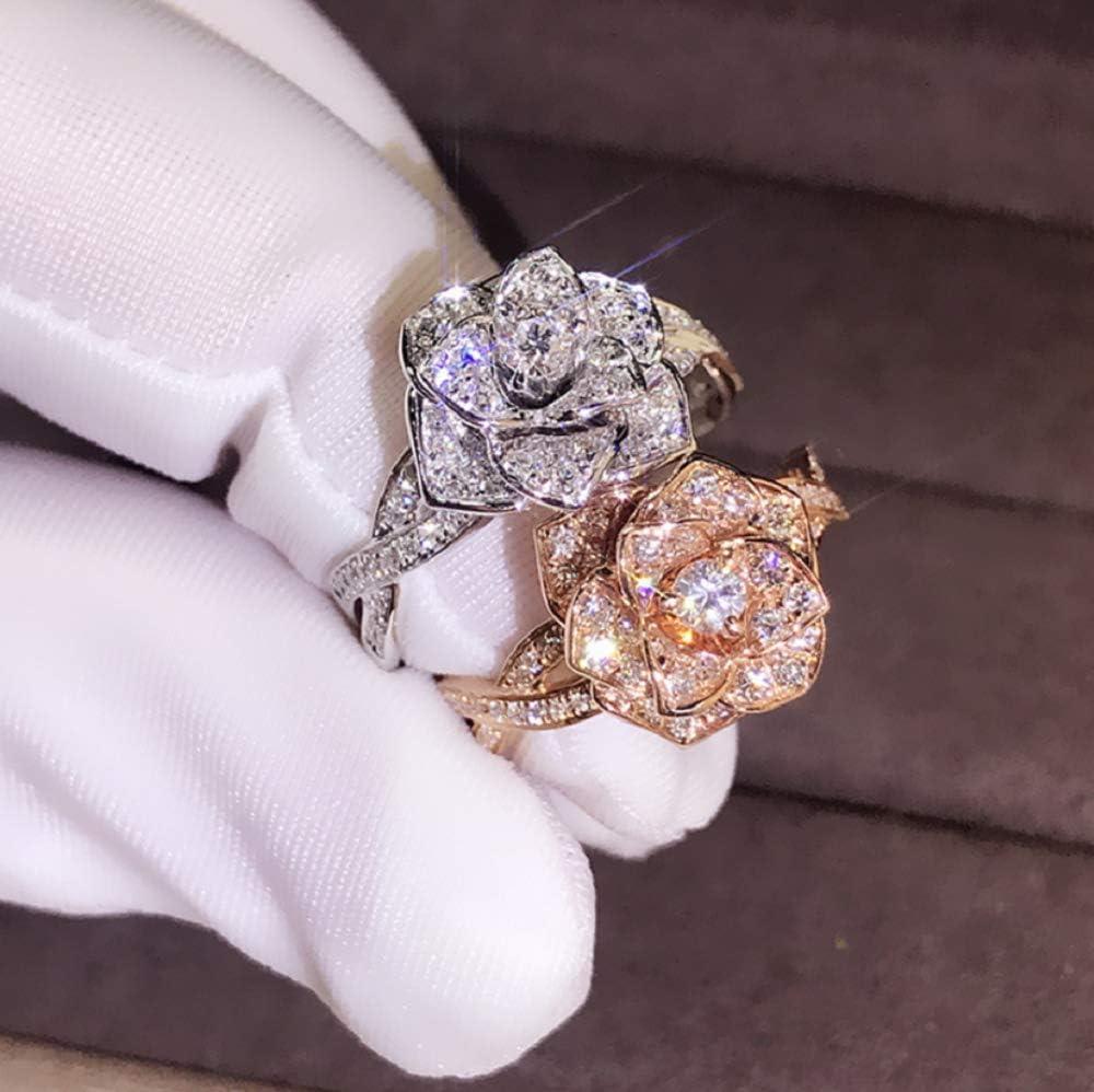Flower Rose Wedding Ring