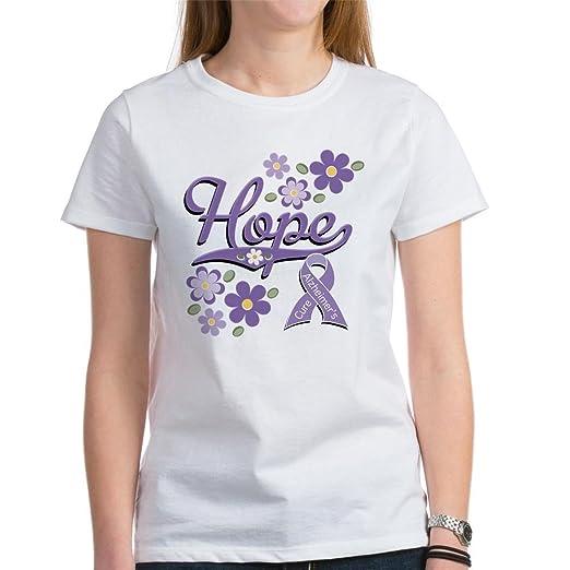 1bf2de70 Amazon.com: CafePress - Hope Alzheimer's Awareness Women's T-Shirt ...