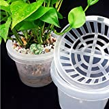 Plastic Hydroponic Planting Mesh Net Pot Basket Plant Grow Cup Kit