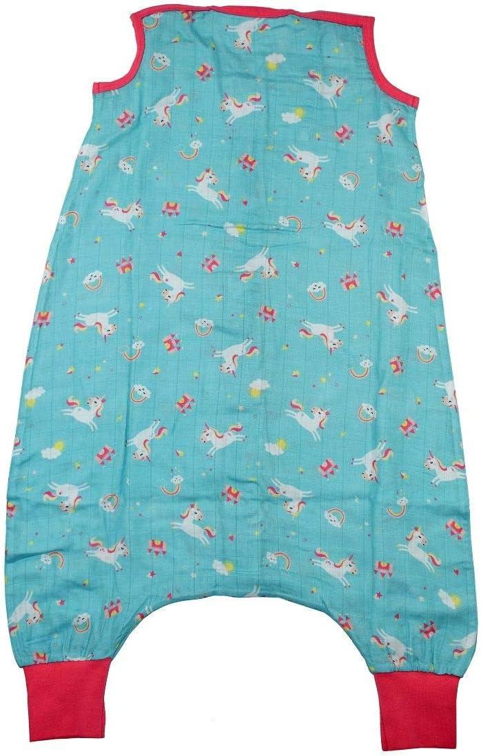 0,5 Tog Slumbersac Sac de couchage en mousseline avec pieds env Disponible en diff/érentes tailles et motifs Pomme rouge 3-4 ans