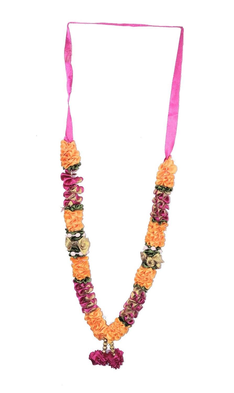 D/&D Crafts Gold Plated Rudraksha Beads Mala Necklace for Women Girls