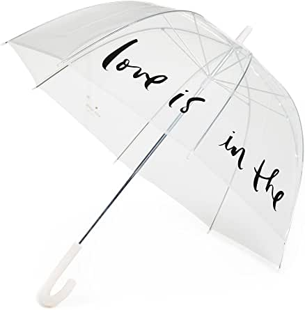Kate Spade New York Women's Love is in The Air Clear Umbrella