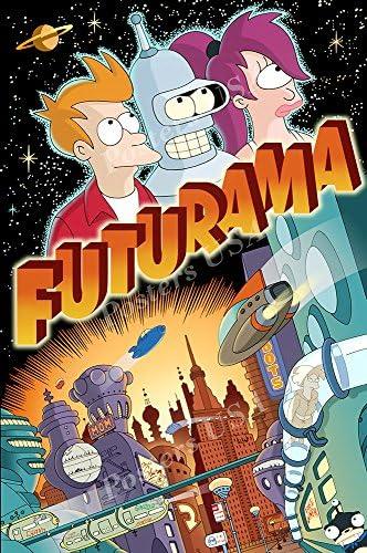 PremiumPrintsFuturama TV Series Show Poster Glossy Finish Made in USATVS105 24 x 36 61cm x 915cm