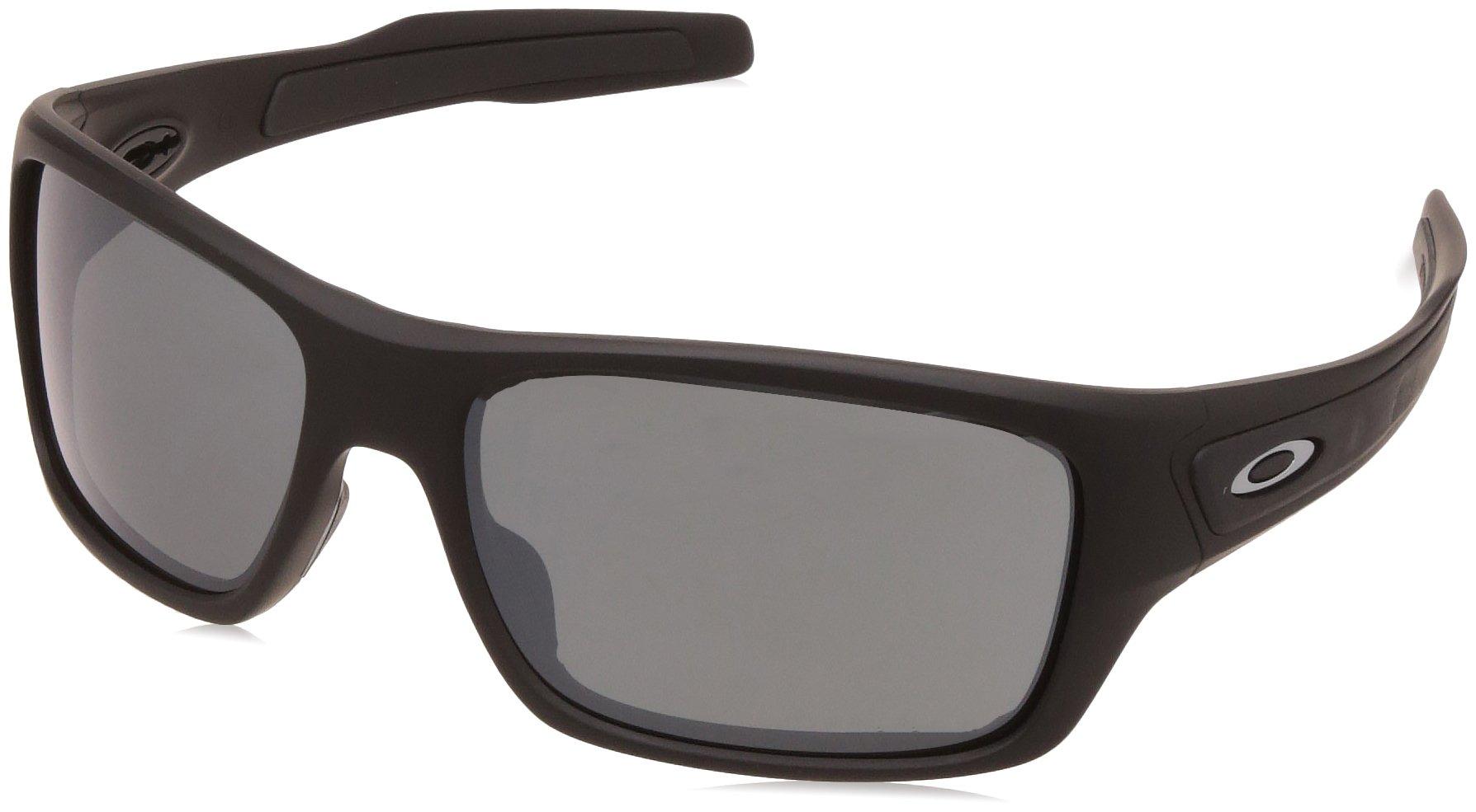 Oakley Men's OO9263 Turbine Rectangular Sunglasses, Matte Black/Prizm Black, 65 mm