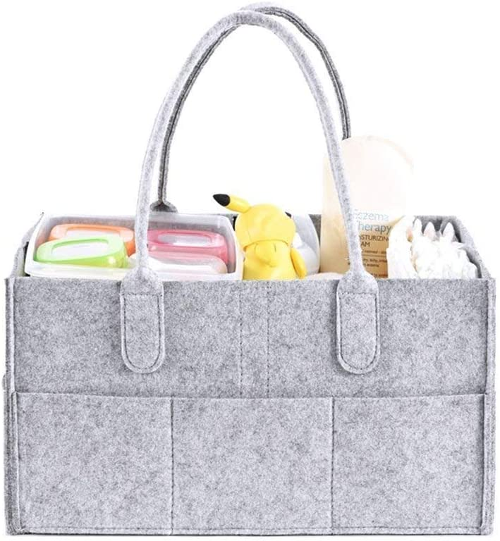 Sunzit Pieghevoli in feltro cestino Organizzatore bag Toy cestino per pannolini biodegradabili per auto da viaggio Organizzatore Fasciatoio