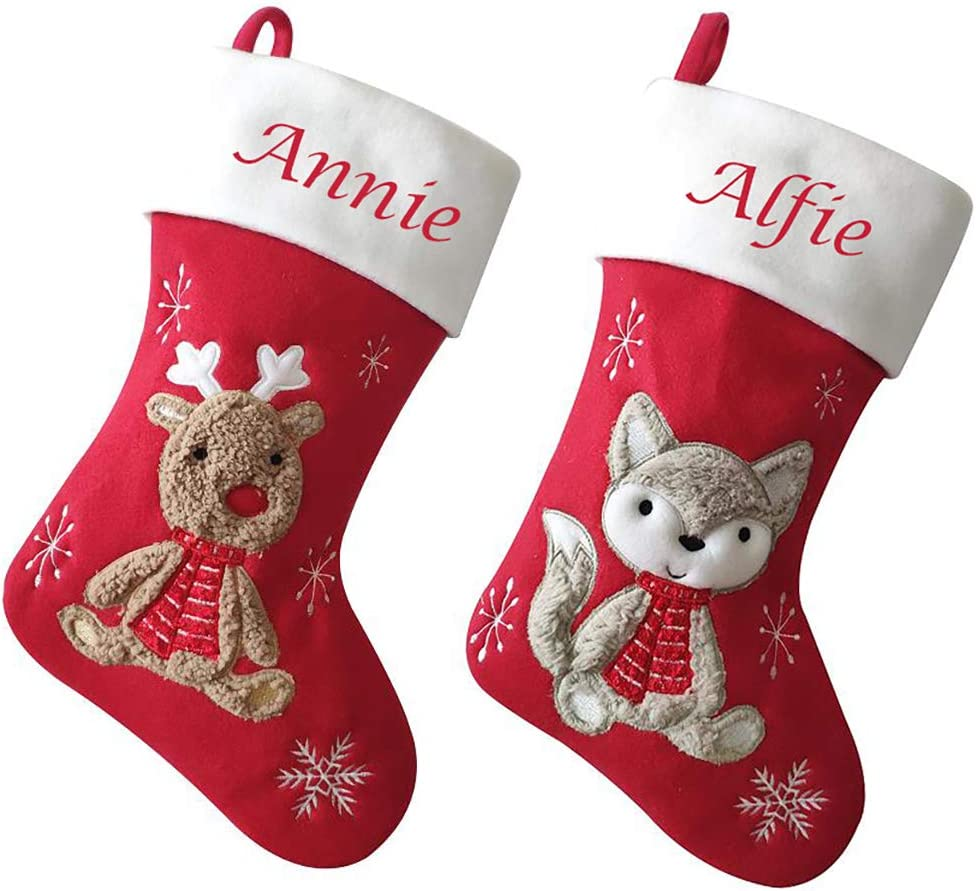 Personalised Embroidered Christmas Stocking