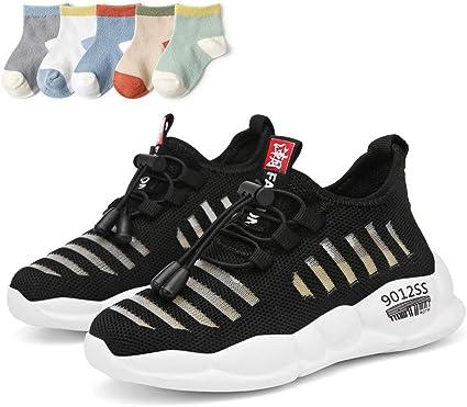XXHC Gar/çon et Fille Chaussure de Course enfant Tenni Running Basses Mesh Sneakers enfant Running Comp/étition Entra/înement Chaussure