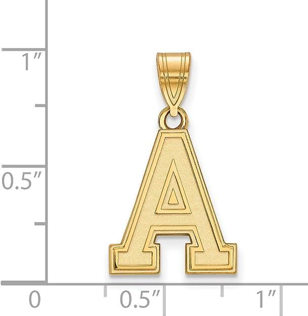 14k White Gold USMA West Point Army Black Knights School Letter Logo Pendant