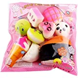 Ladiy 5Pcs Kids Mini Cute Bread Dessert Food Stress Reliever Squishies Toys Gag Toys & Practical Jokes