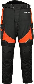ni/ños gris Profirst Global Motocicleta//Moto Big Pocket Impermeable Pantal/ón de pantal/ón textil Cordura extra/íble para hombres XS mujeres