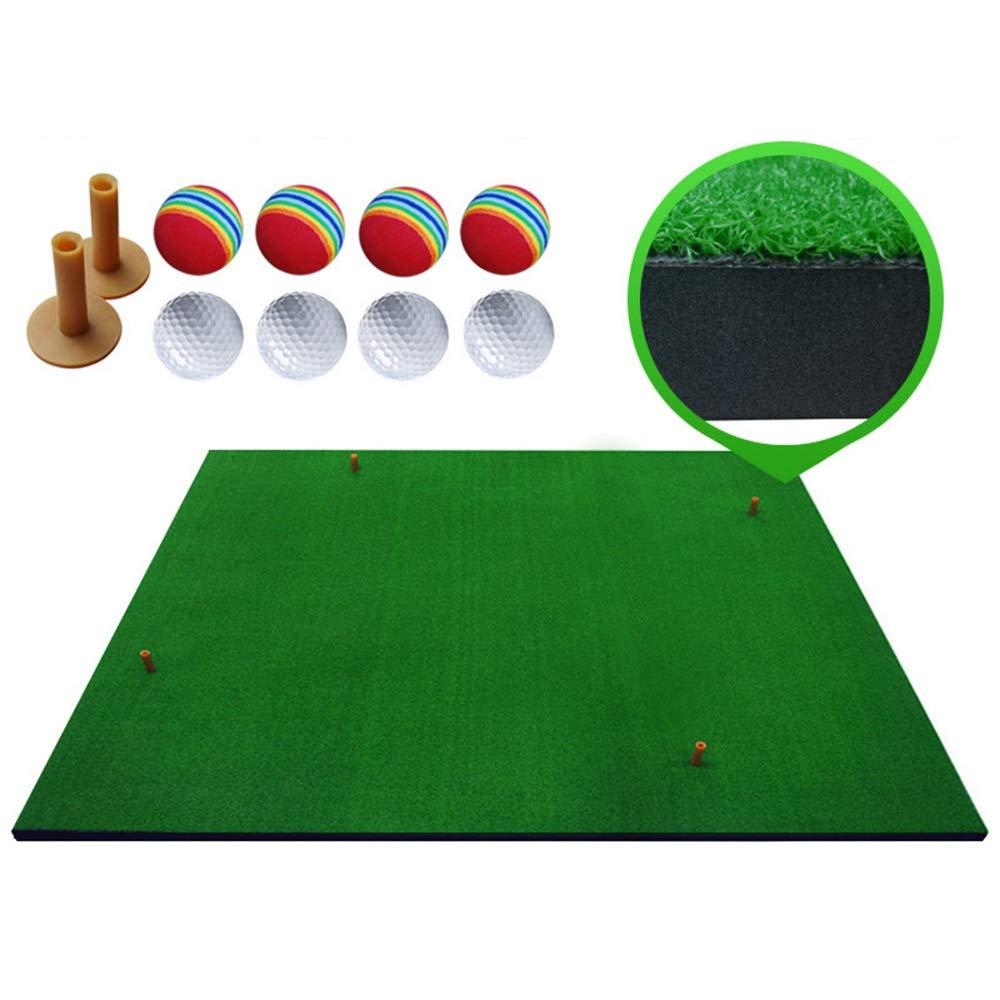 GRF-XB 厚手ゴルフマット 個人用 屋内外 ゴルフ練習マット 自宅 裏庭 ゴルフ 練習マット ギフト ティー2個とボール8個 1m×1.25m  B07Q4TWZ31