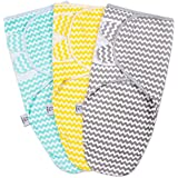 Swaddle Wraps - Adjustable infant/baby wrapsack - Soft 100% Cotton - 3 Pack - Gender Neutral Colors