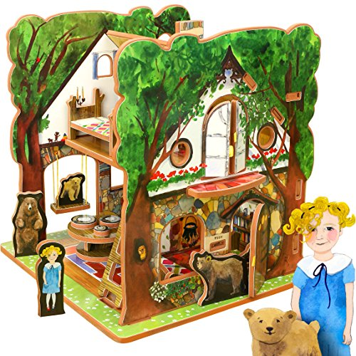 Storytime Toys - Goldilocks and the Three Bears, Fairytale Dollhouse and Book
