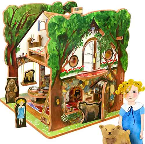 Storytime Toys - Goldilocks and the Three Bears, Fairytale Dollhouse and Book